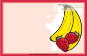 Bananas Strawberries Red