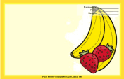Bananas Strawberries Yellow