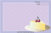 Cheesecake and Cherries — Purple