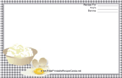 Eggs Black Gingham