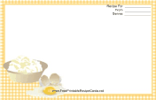 Eggs Yellow Gingham