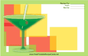 Green Martini Glasses