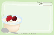 Ice Cream Fruit Topping Green
