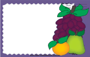 Pear Orange Grapes Purple