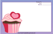 Pink Heart Cupcake Purple