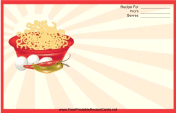 Red Noodles Recipe Card