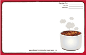 Tasty Red Recipe Card