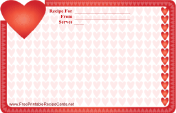 Heart Border Valentine Recipe Card