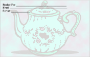 Teapot Recipe Card