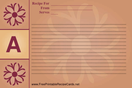 Monogram Recipe Card - A recipe cards