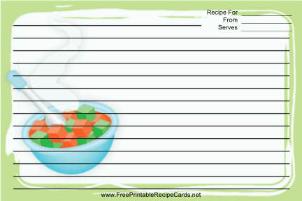Baby Food recipe cards