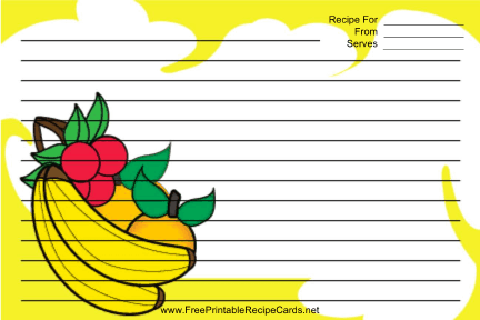 Banana Orange Cherry Yellow recipe cards