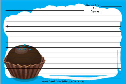 Blue Chocolate Truffle recipe cards