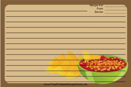 Brown Chips Salsa recipe cards