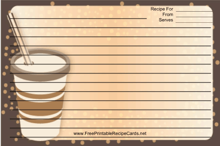 Brown Paper Cup recipe cards