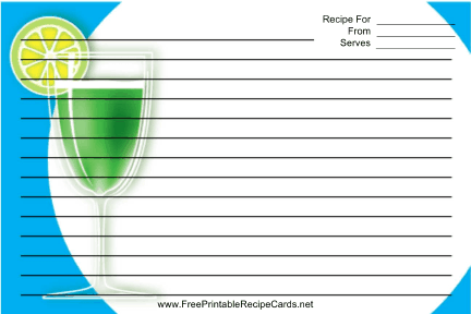 Cocktail Blue recipe cards
