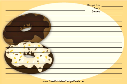 Frosted Doughnuts Yellow recipe cards