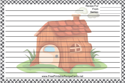 Funky House Black White recipe cards