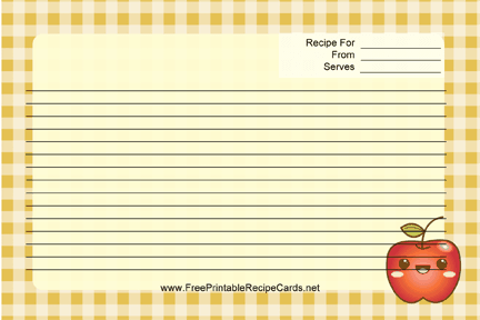 Kawaii Apple recipe cards
