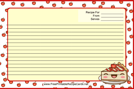 Kawaii Cheesecake recipe cards