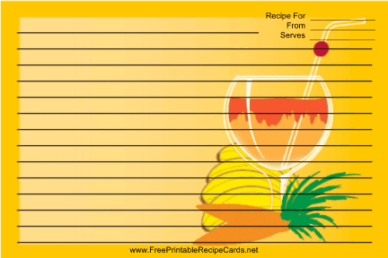 Orange Banana Drink recipe cards