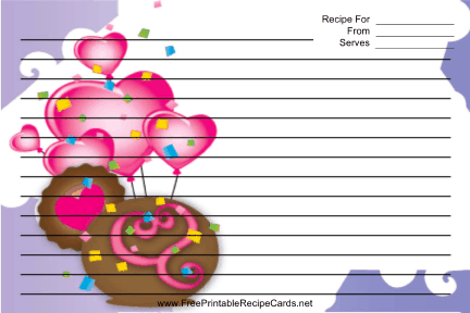 Purple Heart Balloons recipe cards