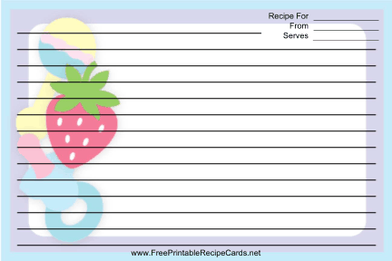 Rattles Pacifiers Purple recipe cards