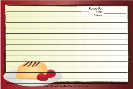 Red Dessert recipe cards