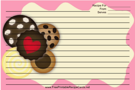 Several Cookies Pink recipe cards