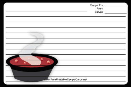 Soup Black recipe cards