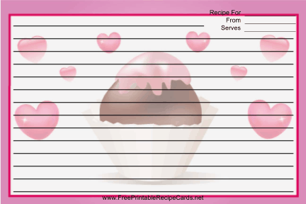 Valentines Bonbon Red recipe cards