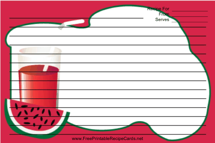 Watermelon Drink recipe cards