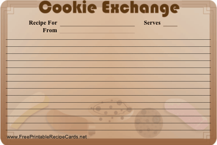 Cookie Exchange recipe cards