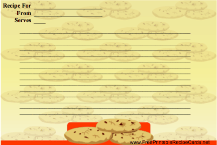Stack of Cookies recipe cards