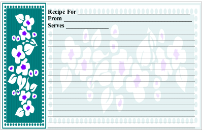 Flowers recipe cards