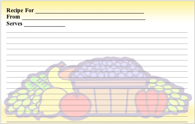 Fruit Basket recipe cards