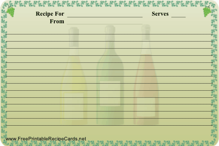 Wine recipe cards