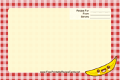 Kawaii Banana recipe card