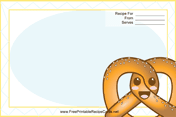 Kawaii Pretzel recipe card
